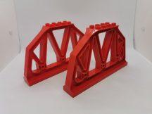 Lego Duplo vasúti híd elem pár, lego duplo vasúti felüljáró elem pár lego duplo vonatpályához