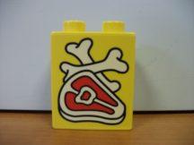 Lego Duplo képeskocka - hús (karcos)
