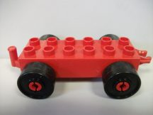 Lego Duplo Utánfutó alap kapcsos piros-fekete