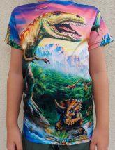 Gyerek 3D póló Dinoszaurusz 130 méret