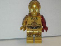 Lego Star Wars figura - C-3PO - Dark Red Arm (sw653) RITKA