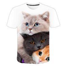 Gyerek 3D póló Cica 110 méret Cicás póló macskás póló