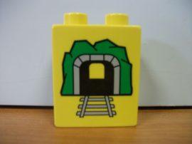 Lego Duplo képeskocka - mozdony, alagút (karcos)