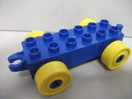 Lego Duplo utánfutó alap kapcsos kék-sárga