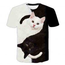 Gyerek 3D póló Cica 130 méret  Cicás póló macskás póló