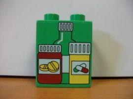 Lego Duplo képeskocka -  gyógyszer