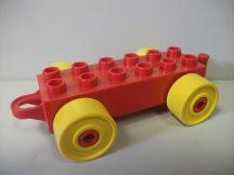 Lego Duplo utánfutó alap akasztós piros-sárga