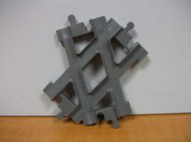 Lego Duplo kereszt sín, lego duplo vonatpályához (barnás szürke)