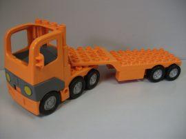 Lego Duplo Autó + utánfutó (narancs) kamion