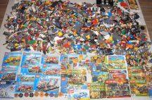 12,9 kg ÖMLESZTETT, VEGYES, KILÓS LEGO több, mint 40 db minifigurával, katalógusokkal, sok-sok kiegészítővel (City,Ninjago,Creator,Chima)