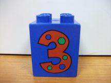 Lego Duplo képeskocka - szám 3 (kopott)
