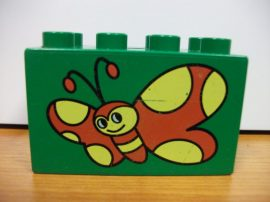 Lego Duplo képeskocka - pillangó (karcos)