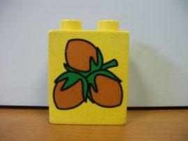Lego Duplo képeskocka - mogyoró