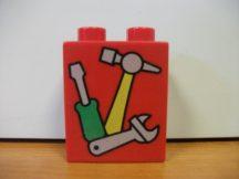 Lego Duplo képeskocka - szerszám (karcos)