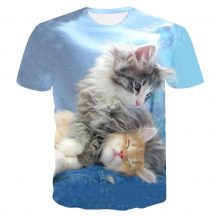 Gyerek 3D póló Cicák 120 méret Cicás póló macskás póló