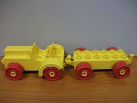 Lego Duplo Utánfutós autó (sárga)