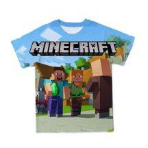 Gyerek 3D póló Minecraft 130 méret