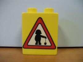 Lego Duplo képeskocka - közlekedési tábla