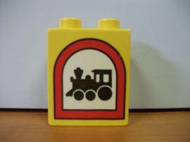 Lego Duplo képeskocka - mozdony