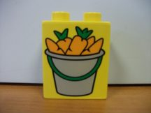 Lego Duplo képeskocka - répa (karcos,kopott)