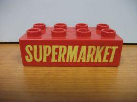 Lego Duplo képeskocka - supermarket (karcos)