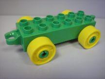 Lego Duplo utánfutó alap kapcsos zöld-sárga