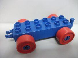 Lego Duplo utánfutó alap kapcsos kék-piros