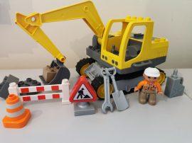 Lego Duplo - Ásógép 4986 markoló  munkagép
