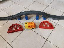 Lego Duplo Mozdony, Lego Duplo vonat csomag + felüljáró (szürke)
