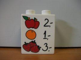 Lego Duplo képeskocka - gyümölcs