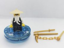 Lego Ninjago figura - Sensei Wu (njo026) + spinner