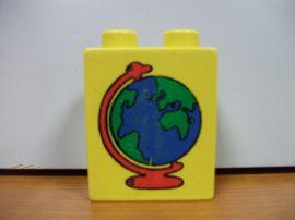 Lego Duplo képeskocka - földgömb (karcos)