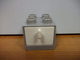 Lego Duplo komód (szürke-fehér)