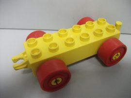 Lego Duplo utánfutó alap kapcsos sárga-piros