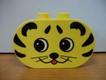 Lego Duplo képeskocka macska cica fej (karcos)