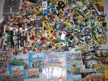 11 kg ömlesztett, vegyes, kilós lego csomag (lego city vonatos készletekkel)