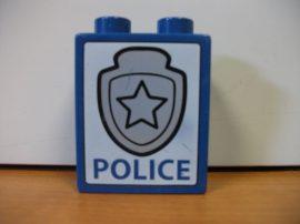 Lego Duplo képeskocka - police, rendőrség