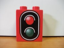 Lego Duplo képeskocka - jelzőlámpa (karcos)