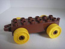 Lego Duplo utánfutó alap kapcsos barna-sárga