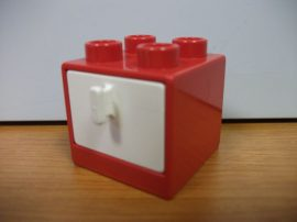 Lego Duplo komód (fehér fiók)