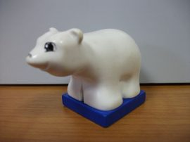 Lego Duplo Jegesmedve (kicsi) (szeme, orra kopott)