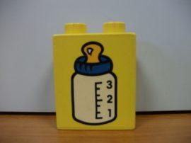 Lego Duplo képeskocka - cumisüveg (karcos)