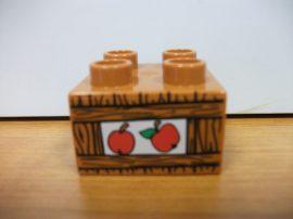 Lego Duplo képeskocka - alma (sötét ! )
