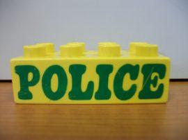 Lego Duplo képeskocka - rendőrség (karcos)
