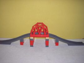 Lego Duplo - Vasúti híd, felüljáró 3774, lego duplo vonatpálya (szürke)