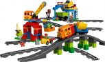 DUPLO vonat, mozdony, sín, sorompó